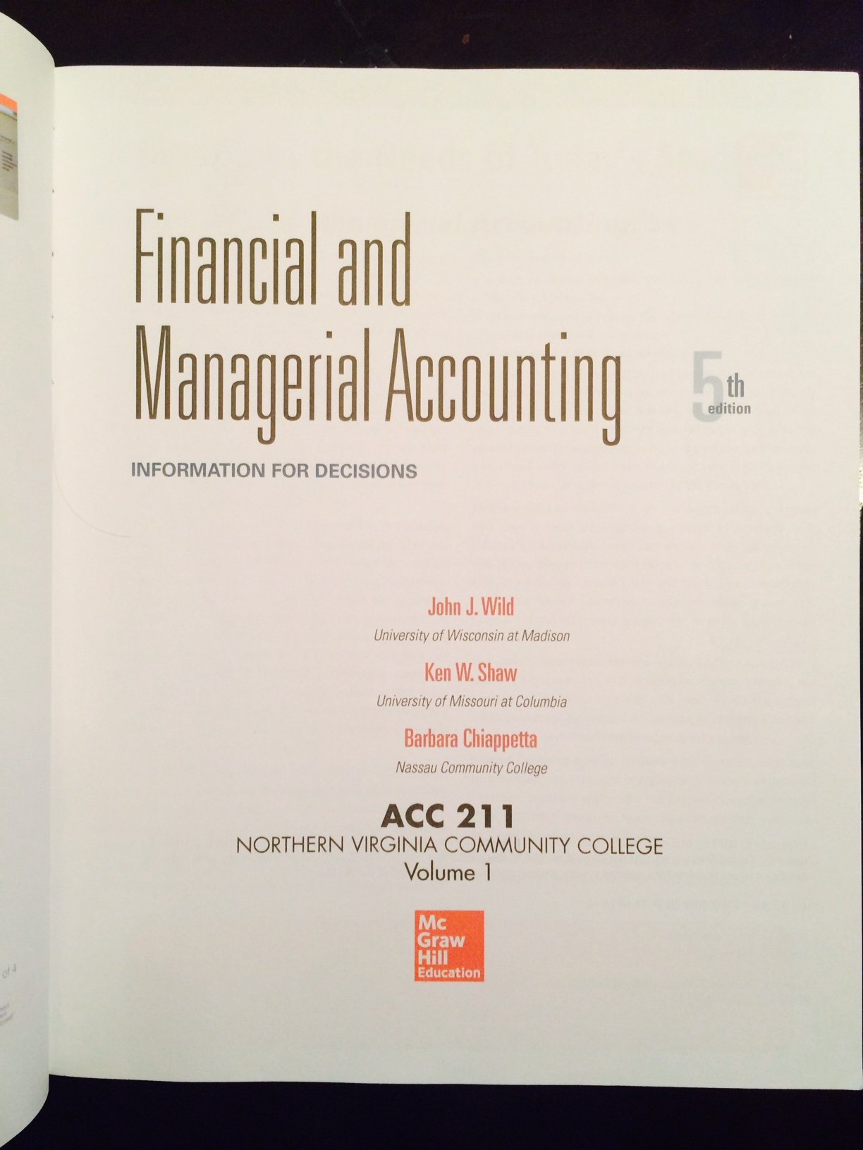 Financial and managerial accounting john wild ken shaw barbara financial and managerial accounting john wild ken shaw barbara chiappetta 9781259335013 amazon books fandeluxe Images