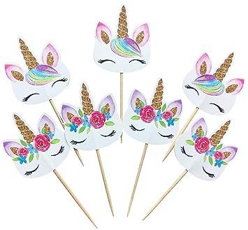 Amazon.com: PrincessCupcake - Pack de 24 adornos de ...