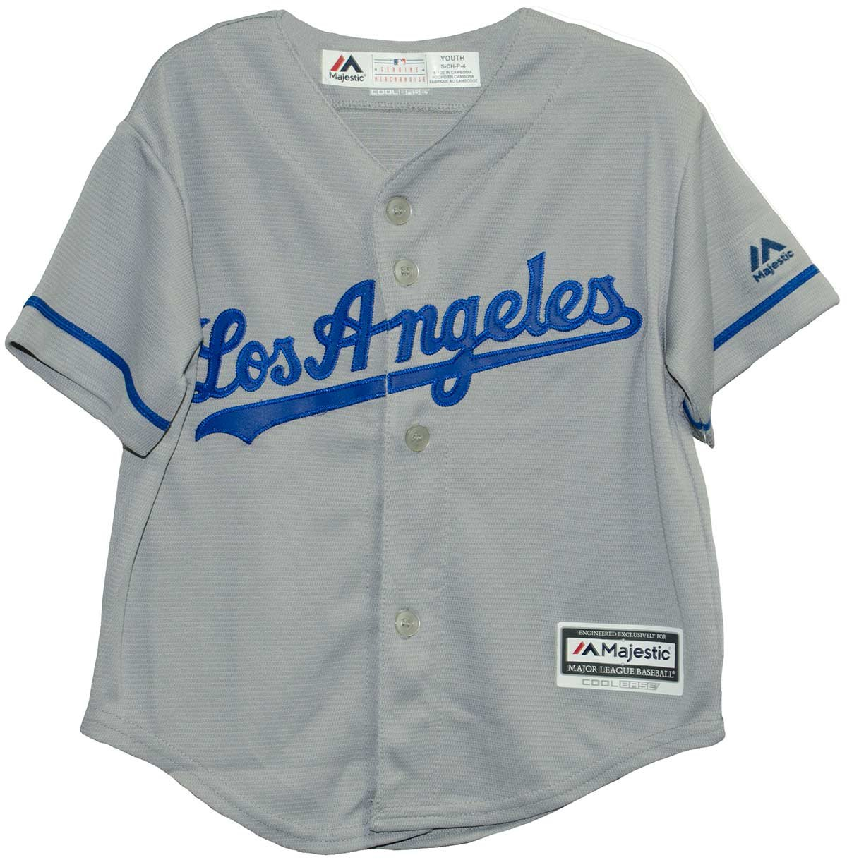 best service 79cbd 31f8a Amazon.com : Los Angeles Dodgers Road Gray Cool Base Child ...