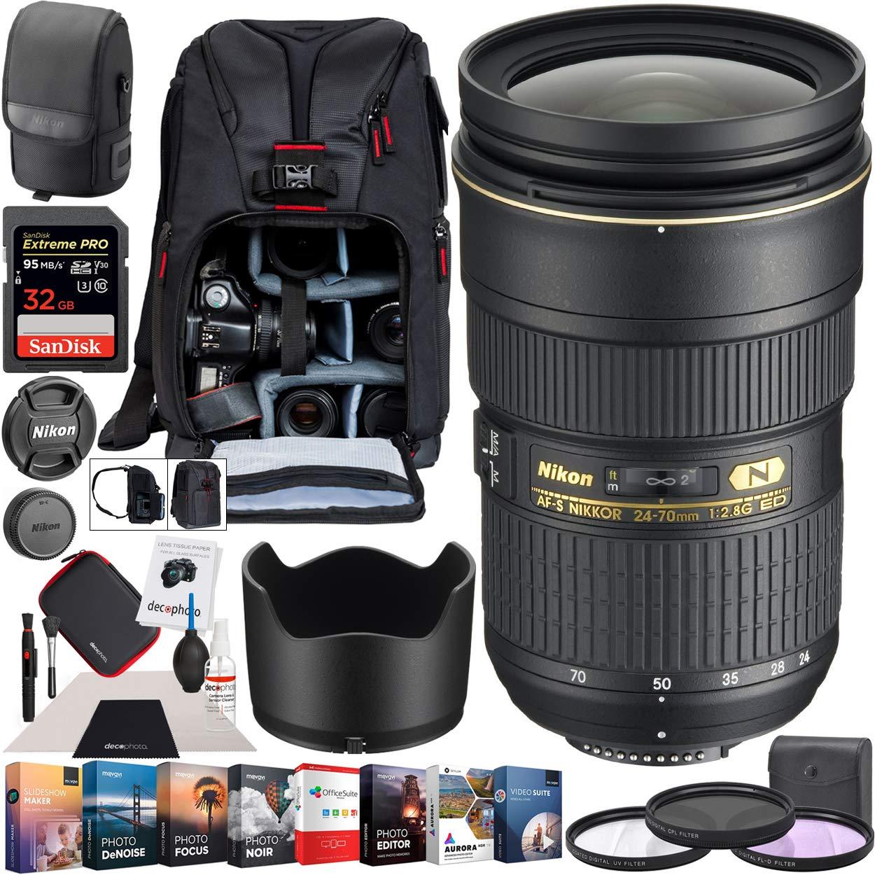 Nikon AF-S NIKKOR 24-70mm f/2.8G ED Zoom Lens: Amazon.es: Electrónica