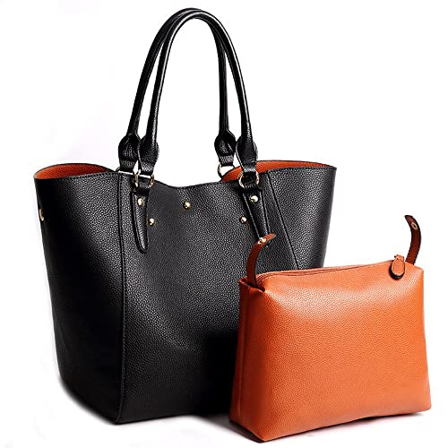Amazon Com Tote Bag Leather Bucket Purse Ladies Handbags Large