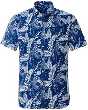 Jinyuan Camisa Hawaiana Summer Beach Camisa de diseño de impresión de Manga Corta para Hombres Ropa Casual para Hombres