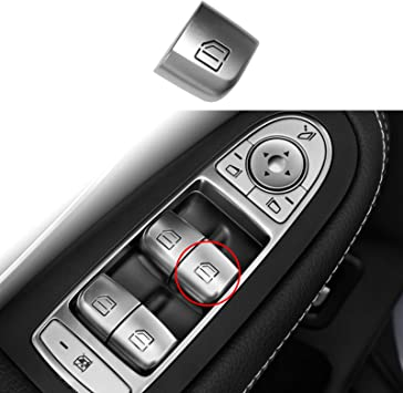 Moonlinks Window Switch Button Covers for Mercedes Benz C E GLC Class, Front Right Window Switch Repair Button Caps(1 Pcs,Fits Mercedes Benz W205 C Class W213 E Class W253 GLC Class 2018-2020)