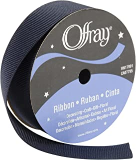"product image for Offray 110276 Grosgrain Ribbon 7/8"" X18', Navy"
