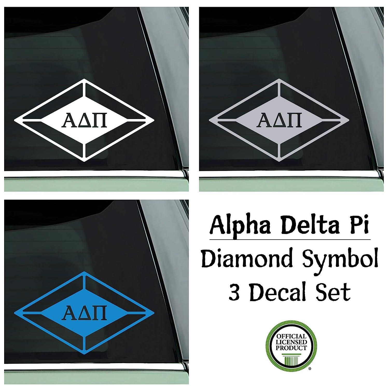 Delta Zeta Sorority 3 Decal Set