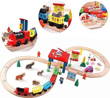 Wood Train KID Child Toy Little Mini Cute Boy Girl/'s Love Wooden Railway Friends