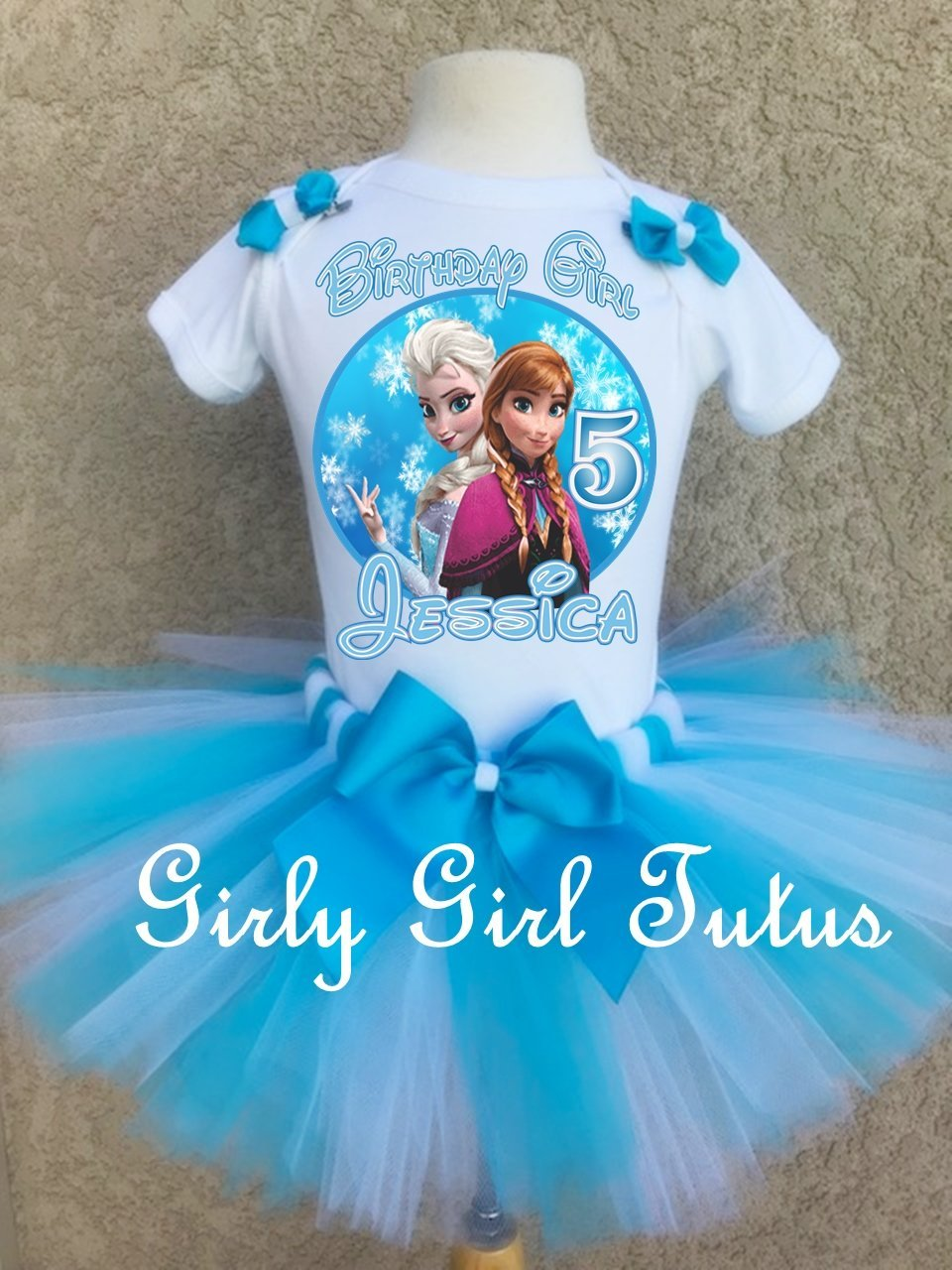 Frozen Birthday Elsa and Anna Oufit Tutu Set