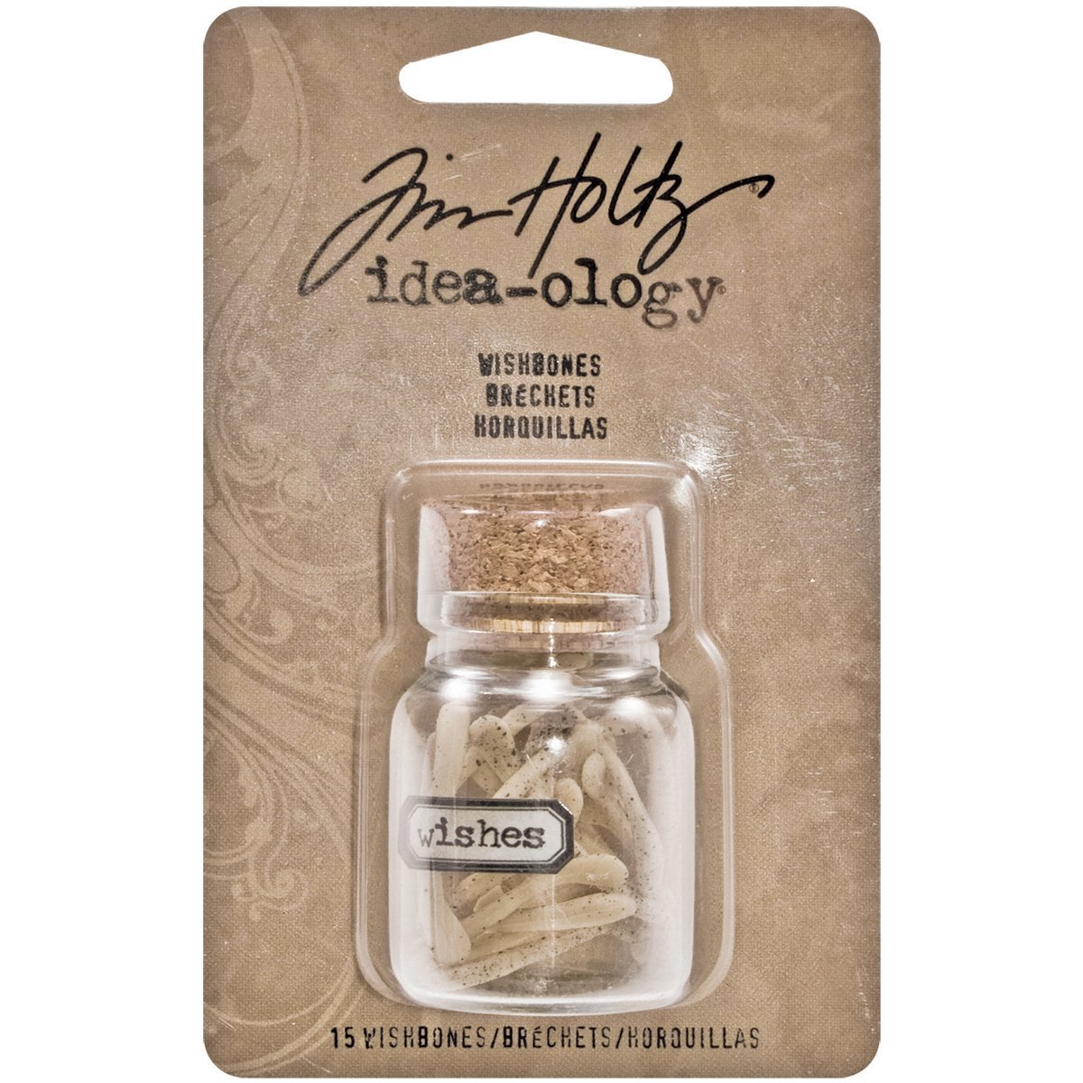 Tim Holtz Idea-ology Resin Wishbones, 1x5/8-Inch, 15 in Corked Vial, TH93071 Advantus Corp.