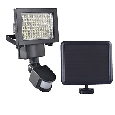 Solar Powered Motion Light – 120 LED with 1100 Lumens Output, 30ft Detection Distance Security Light, All Weather resistant and Almost Anywhere Mountable.