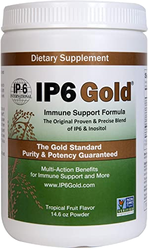 Original IP6 Gold Immune Support Formula with Stevia Tropical Fruit Flavor – 14.6 Ounce