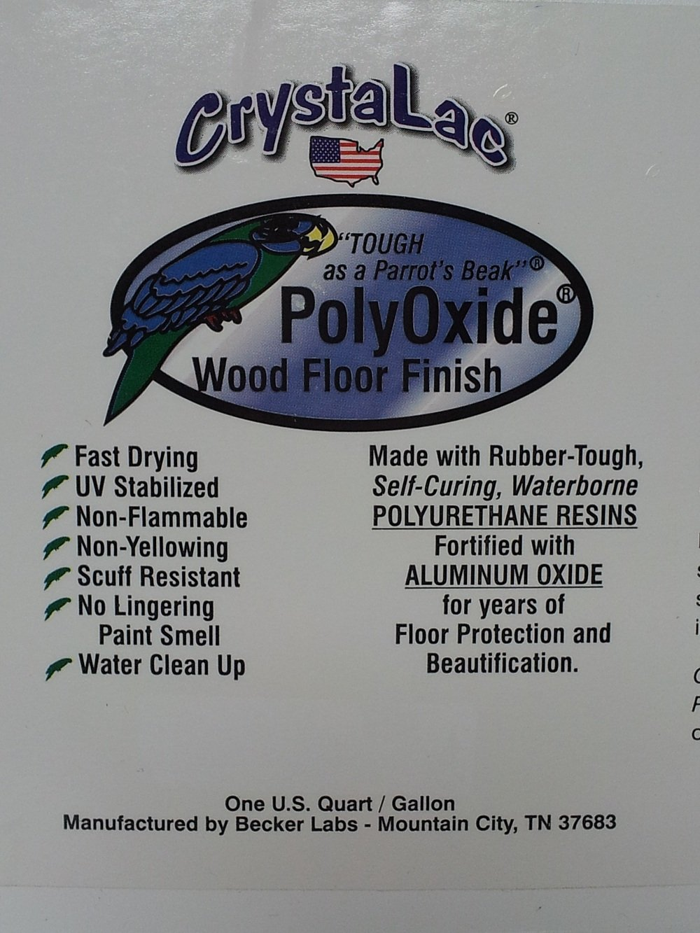 CrystaLac PolyOxide Wood Floor Finish (Satin) Gallon by CrystaLac (Image #2)