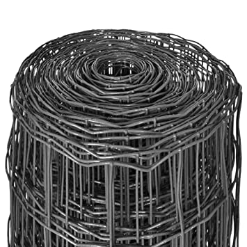vidaXL Malla Euro Fence Gris 25x1,2 m 100x100 mm Valla Cerca Verja Alambrada
