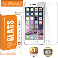 OpenTech® Tempered Glass Screen Protector for Apple iPhone 7 with Installation kit (2.5 D and Full Transparent)