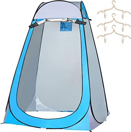 Hiking,Outdoor Activity(120X120X180CM) ZKU Pop Up Tent,Privacy Shelter Tent丨Automatic Instant Shower Tent丨Toilet Shower Storage Tent Camping Changing Portable Toilet for Backpacking