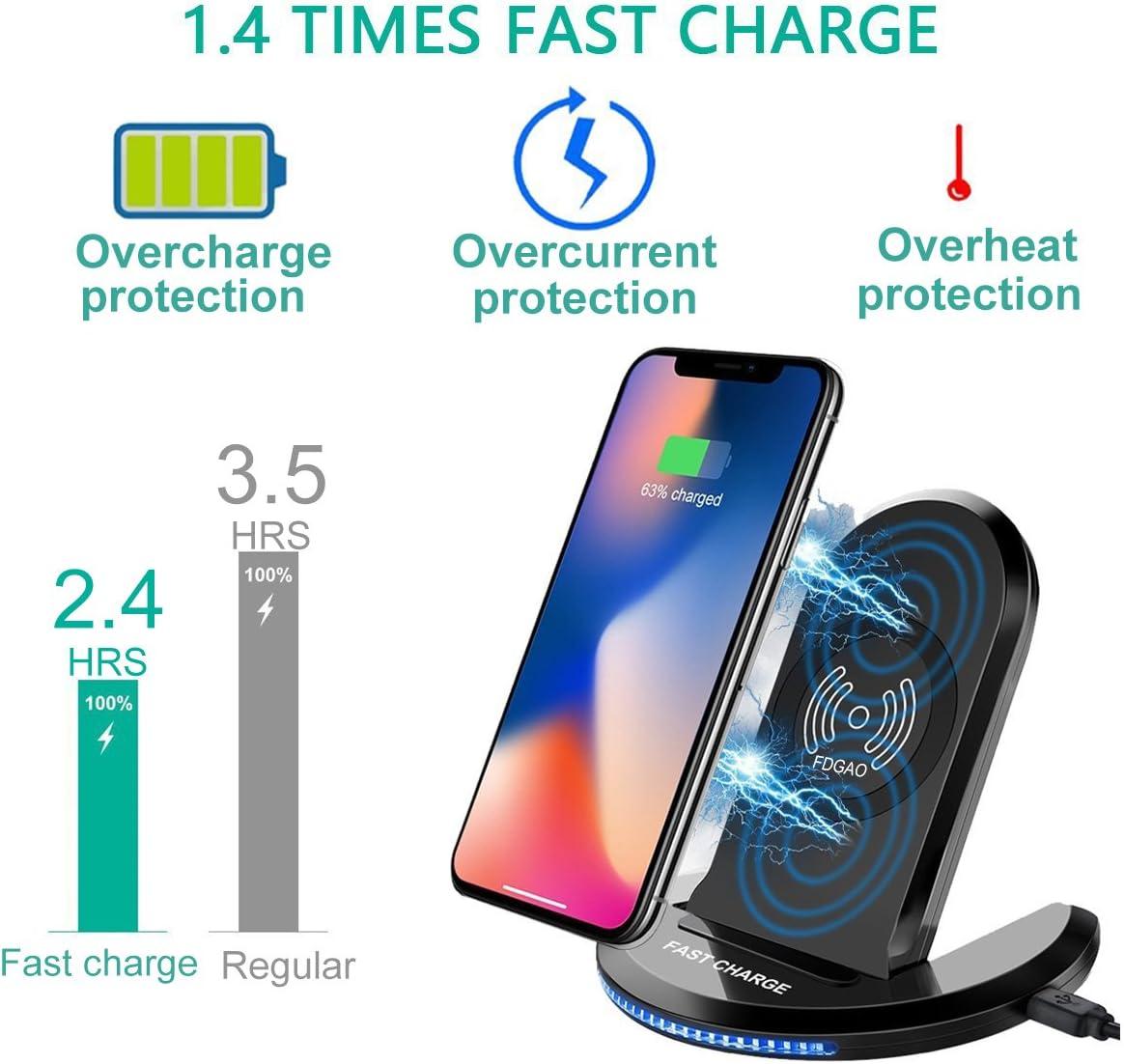 Fdgao chargeur sans fil rapide, Induction chargeurs 2 coil