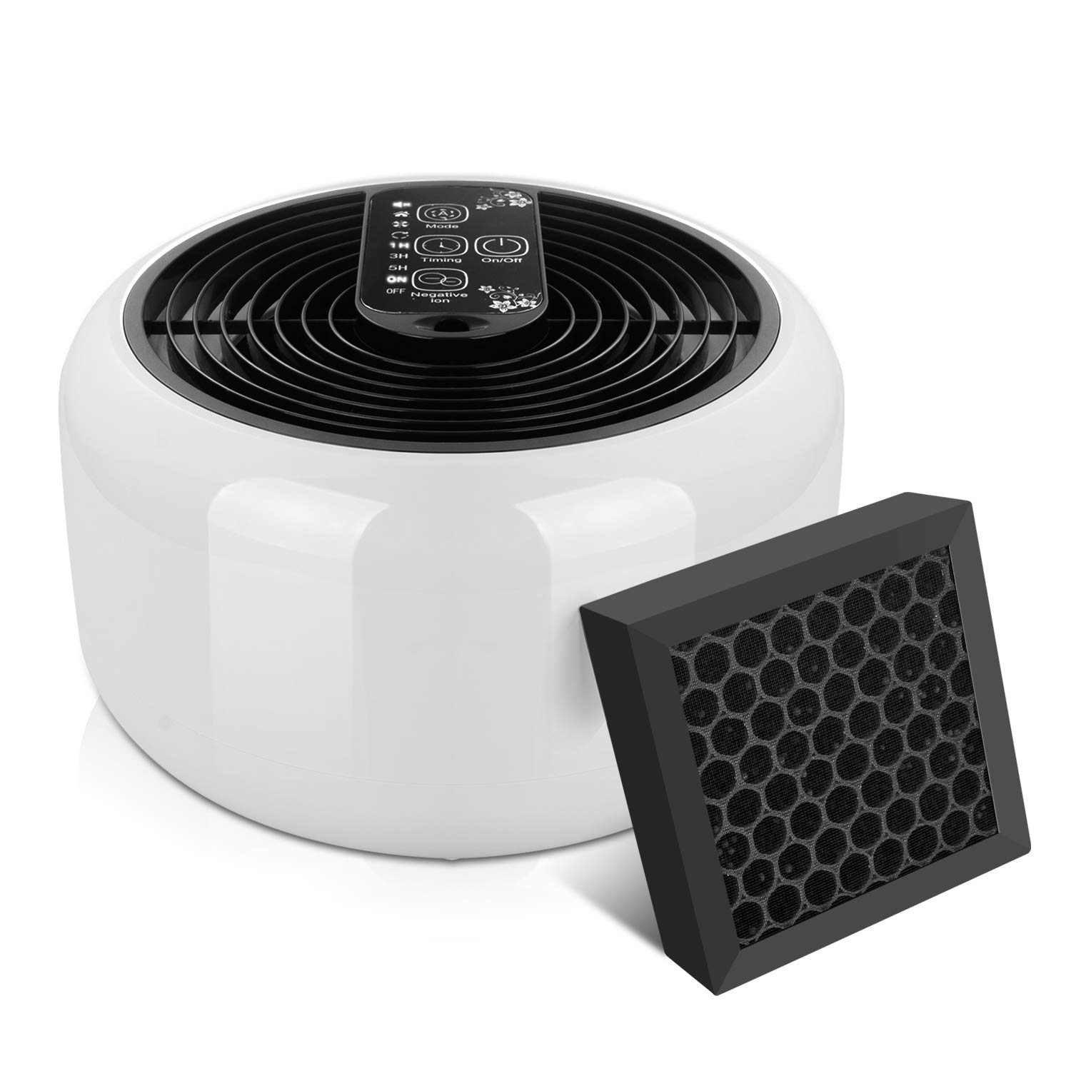 Aiskki Air Purifier, Air Cleaner with Aromatherapy Diffuser, 4 Premium Activated Carbon Pre Filters Removes Allergens, Dust & Pollen, Smoke and Pet Dander