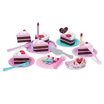 Play Circle By Battat PC2215Z Princess Birthday Party Pretend Cake With Candles