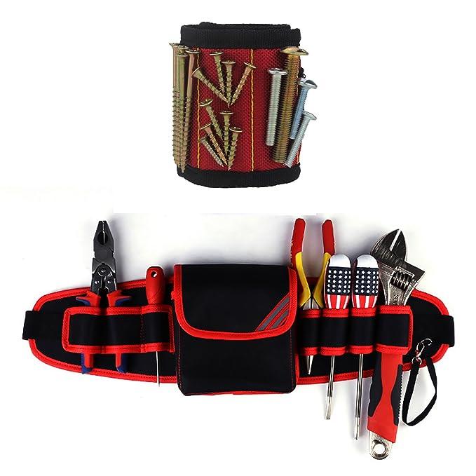 2 opinioni per Borsa piccola per cintura utensile con bracciale magnetico- Supporto