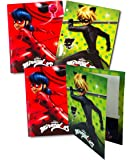 [4-Pack] Miraculous Ladybug Cat Noir 3-Ring Binder Portfolio Pocket Folders