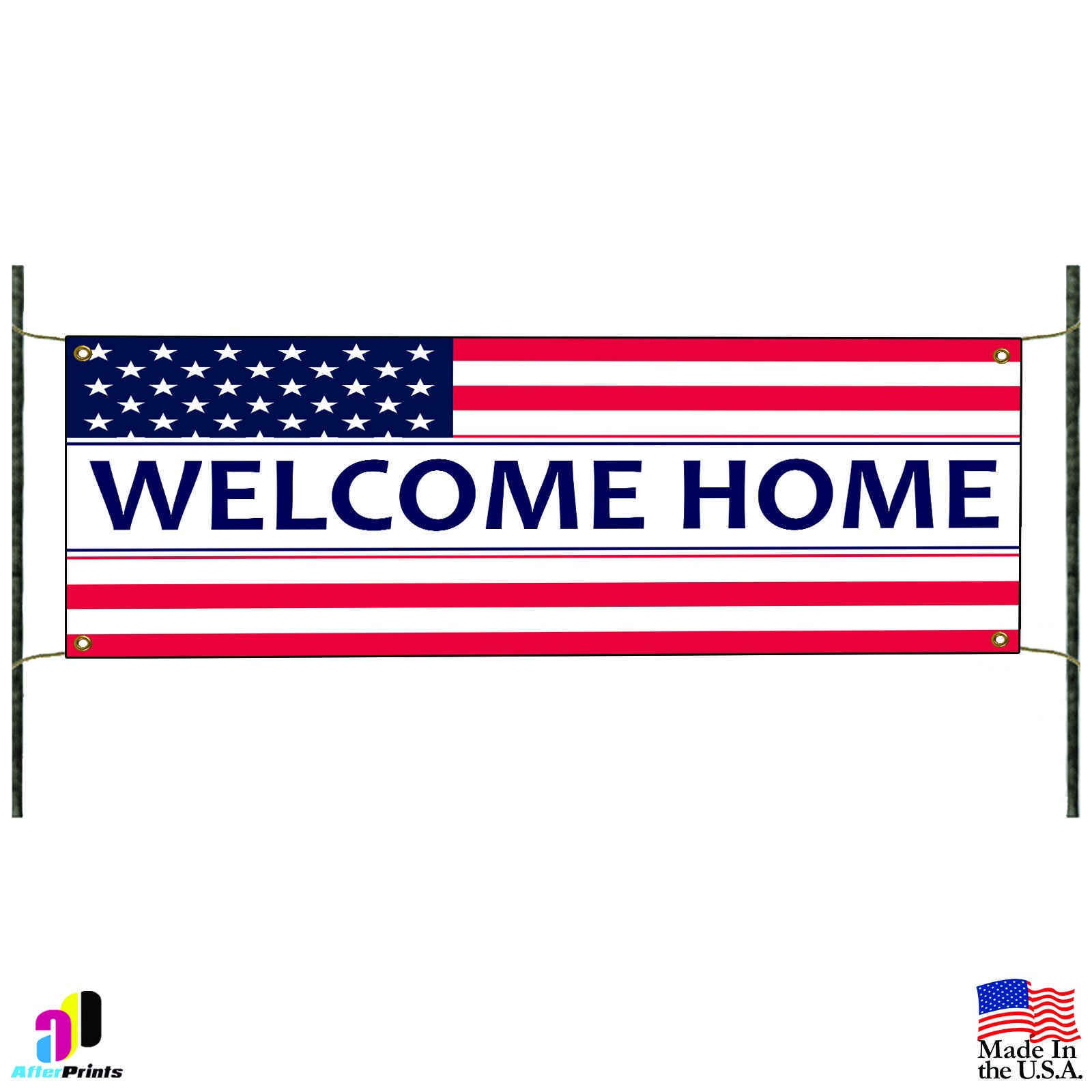 Welcome Home Soldier Veteran Military Country Proud Vinyl Banner Sign