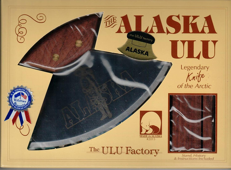 Alaskan Made Ulu with Walnut Handle and Alaskan Sourdough Etched 6