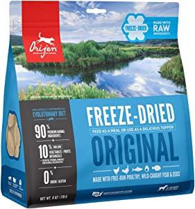 ORIJEN Freeze Dried Dog Food & Topper, Grain Free, High Protein, Premium Raw Meat, Original Recipe, 6oz