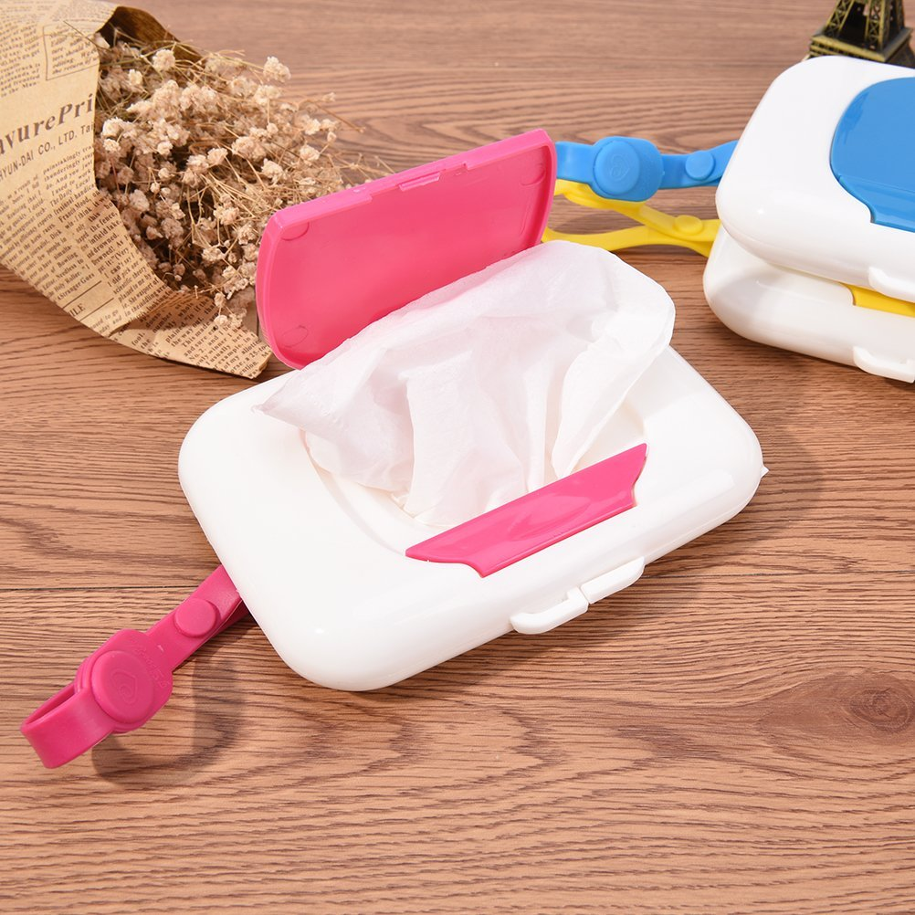 Yellow Fadacai Baby Wipes Dispenser Box Travel Portable Wet Tissue Case Plastic Wet Wipes Carry Container Storage Holder