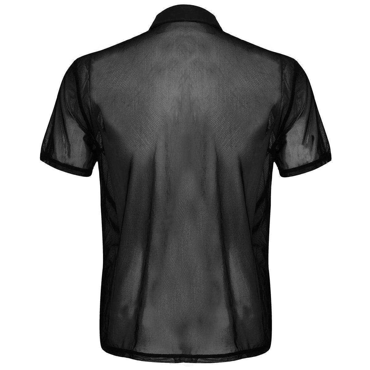 iiniim Herren Shirt Slim Fit Transparent Unterhemd T-Shirt Männer Tops  Unterwäsche Party Clubwear M-XL  Amazon.de  Bekleidung 353651c087