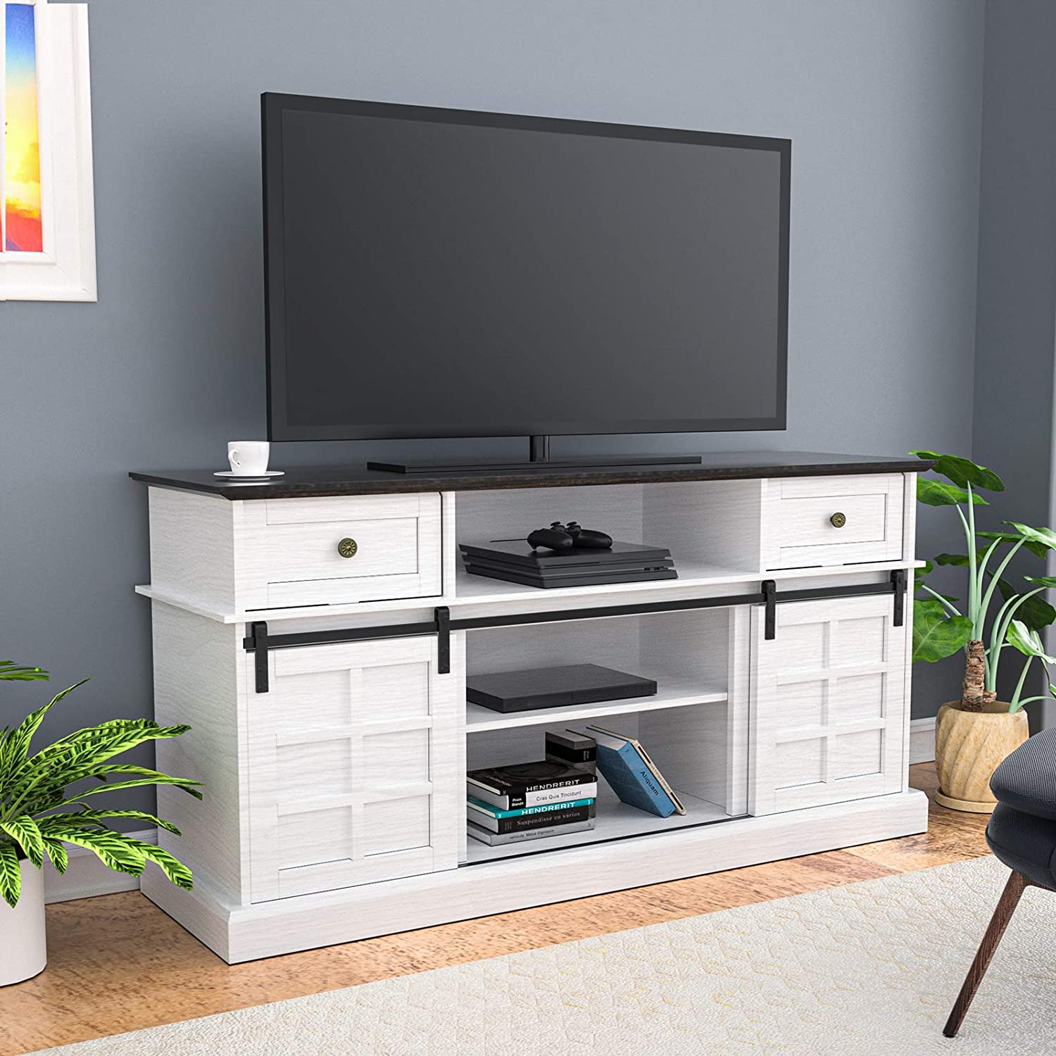LGHM Entertainment Center, TV Stand for 65 inch TVs, 58
