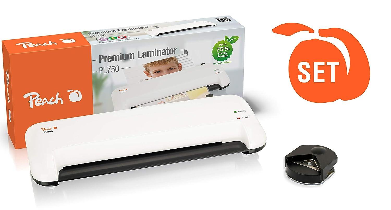 Peach Vorteils-Set PL750 Laminierger/ät DIN-A4 /& Eckenrunder