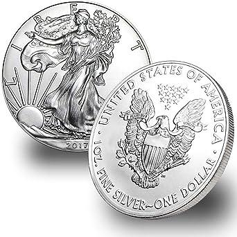 Coins Lot of 5 Silver 2017 American Eagle 1 oz .999 fine silver Eagles 1oz