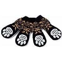 Pet Heroic Chaussettes Antidérapantes 6 Tailles pour Chien et Chat - Protège Les Pattes de l'Animal et Les sols intérieurs, avec Patins en Caoutchouc, Convient pour Les Petits ou Gros Chiens et Chats