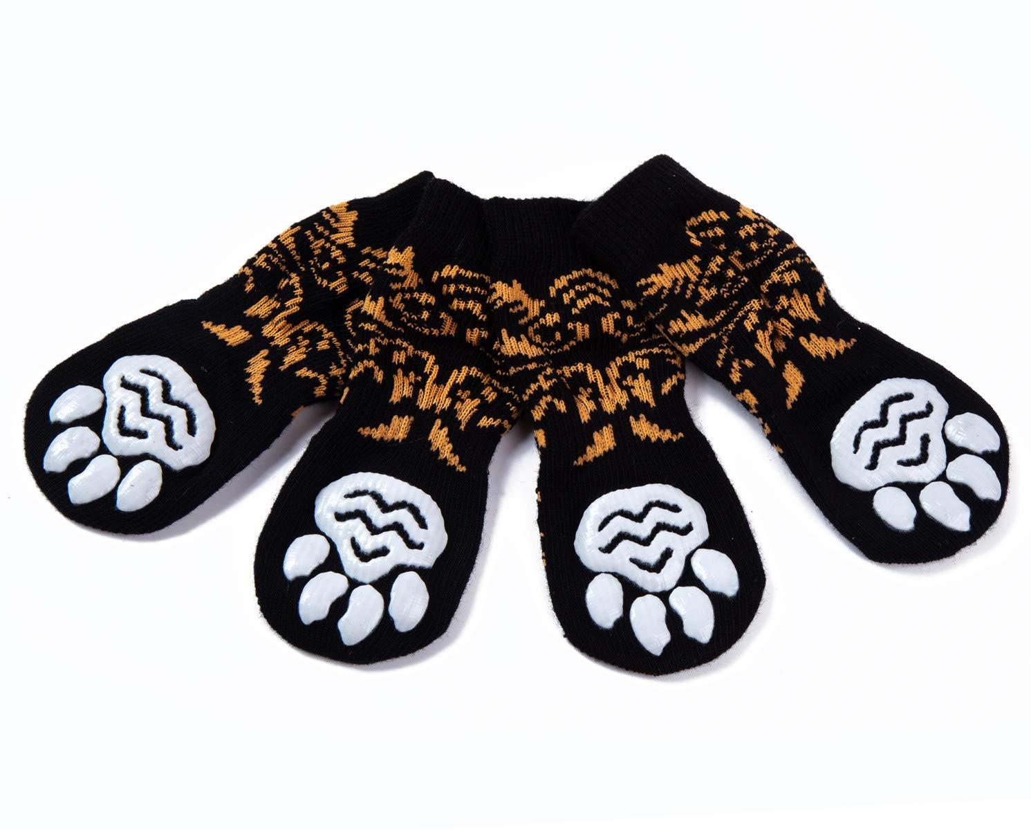 Control de tracci/ón para el Uso en Interiores Ajuste para Perros Extra peque/ños a Grandes Pet Heroic 6 tama/ños Calcetines Antideslizantes para Perros Gatos Protectores de Patas para Perros Gatos