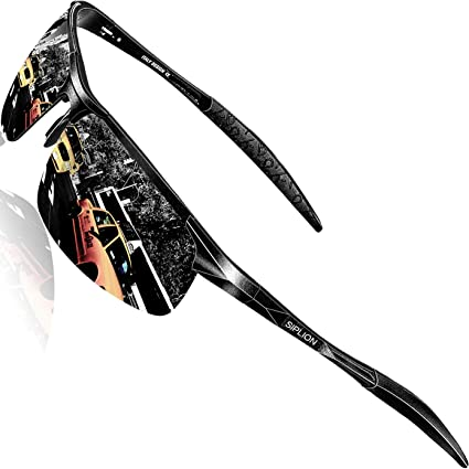 LE Men Polarized Premium Sunglasses Aluminum Tactical Frame Cycling Sport Goggle