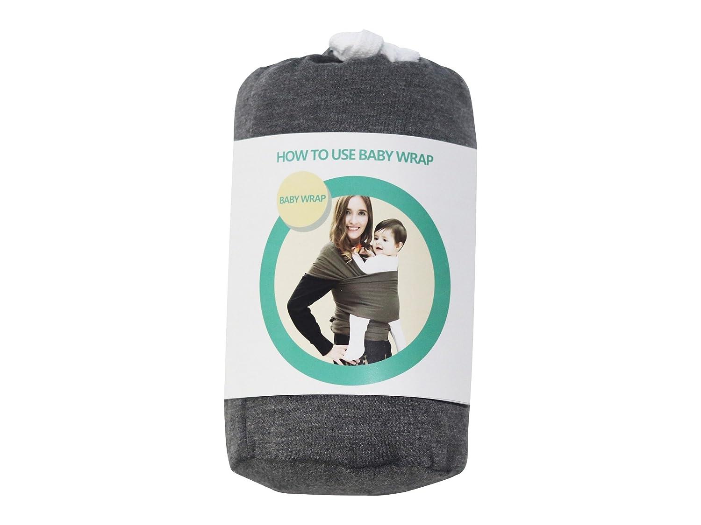 Echarpe de Portage pour Nouveau-Nés, Nourrissons et Tout-Petits Coton Doux Premium Porte-Bébé Transporteur pour Bébés jusqu'à 20kg Sécurité Fonctionnel Confortable - Noir DEBAIJIA