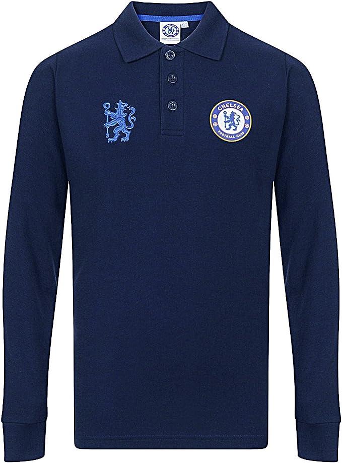 Chelsea FC - Polo de manga larga oficial - Para niño - 6-7 años ...