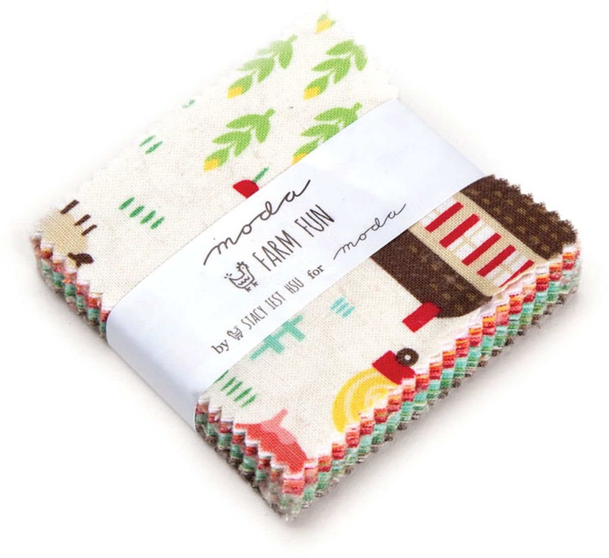 On The Farm Mini Charm Pack by Stacy Iest HSU; 42-2.5 Precut Fabric Quilt Squares