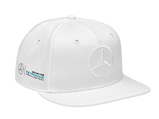 Mercedes-Benz Gorra flatbrim, Hamilton, Edición especial EE. UU. Blanco, 100% Algodón: Amazon.es: Ropa y accesorios