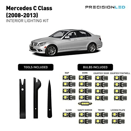 Precision LED Mercedes C Class W204 Interior LED Lighting Package