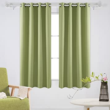 Deconovo Room Darkening Panels Thermal Blackout Curtains Grommet Insulated For Dining 52W X 63L