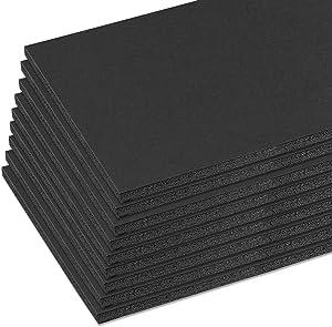 Mat Board Center, Acid Free Foam Boards 11 x 14 Inch, Black Foam Core, 10 Sheets