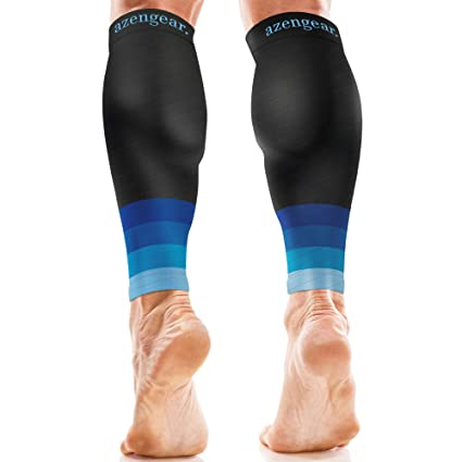 13a338d715b62 aZengear Calf Compression Sleeves for Men & Women - Calf Brace Support -  Compression Calf Guards - Leg Sleeves for Torn Muscle - Shin Splints Brace  ...