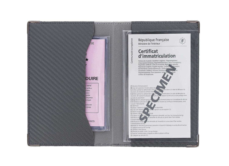 SANS 550067 Autopapierhalter Dunkelgrau Carbon-Optik