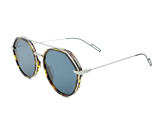 34823146c9 Image Unavailable. Image not available for. Color  Dior Homme 0219S 3MA  Havana 0219S Round Sunglasses ...