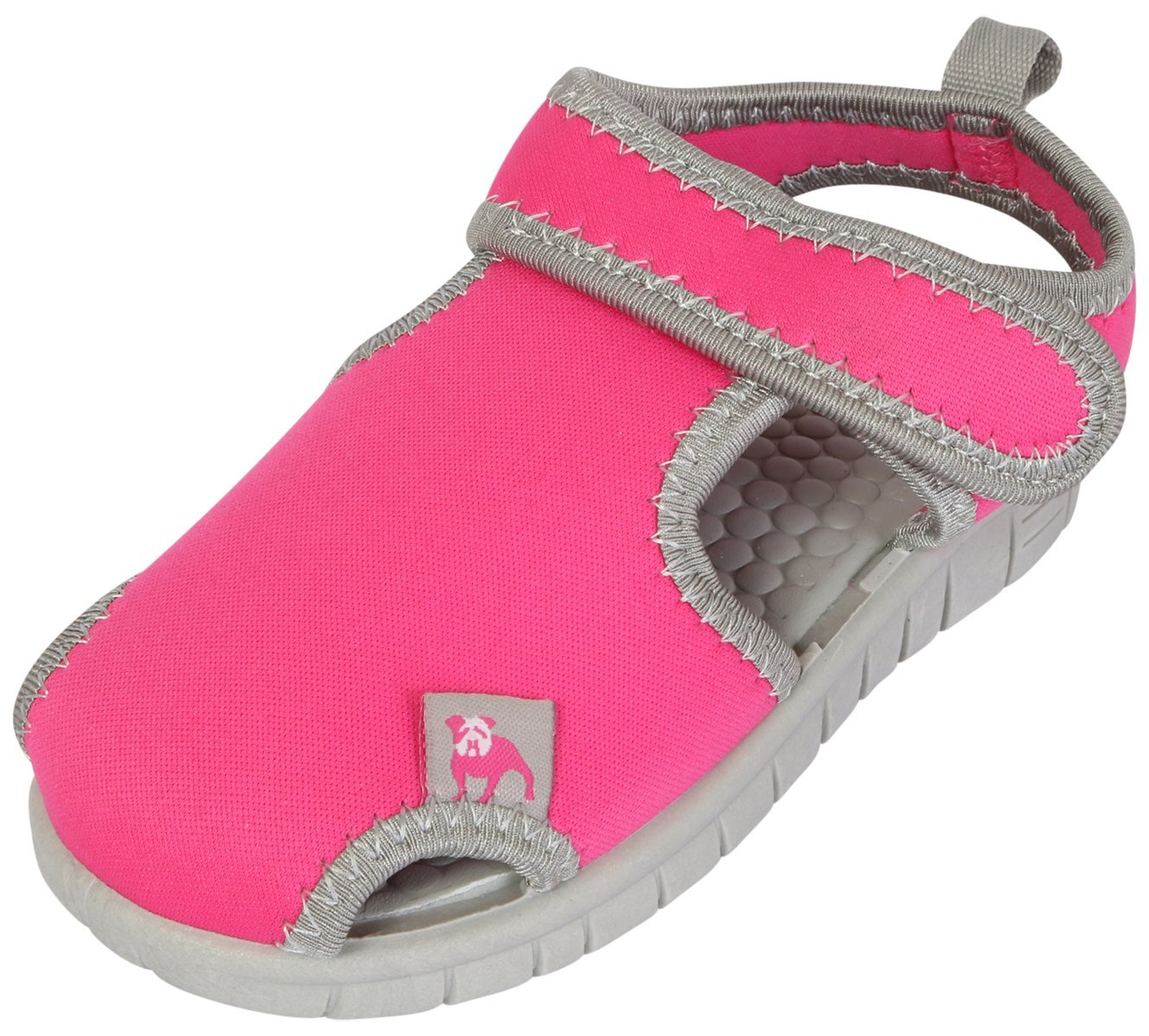B.U.M. Equipment Girl's Water Shoes, Hot Pink/Grey, 6 M US Toddler'