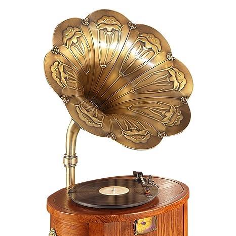 Sitang Madera maciza hechos a mano del antiguo gramófono ...