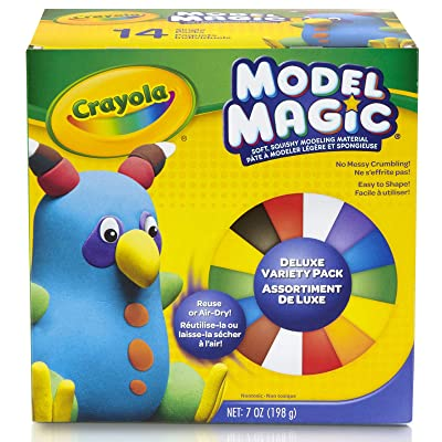 Crayola Model Magic, Deluxe Craft Pack, Gift, 14 Single Packs, At Home Crafts for Kids: Toys & Games