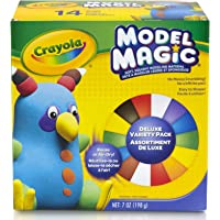 Crayola 23-2403 Model Magic, Deluxe Craft Pack, Clay Alternative, Gift for Kids, 14 Single Pack 7 oz