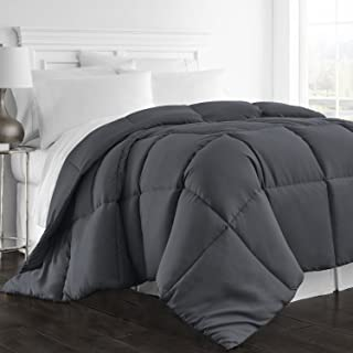 Beckham Hotel Collection 1300 Series - All Season - Luxury Goose Down Alternative Comforter - Hypoallergenic -King/Cal King - Gray