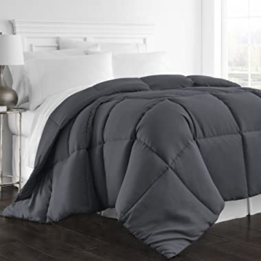 Beckham Hotel Collection 1300 Series - All Season - Luxury Goose Down Alternative Comforter - Hypoallergenic  - King/Cal King - Gray